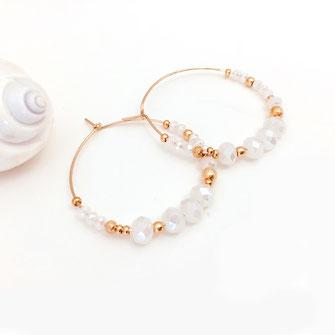 gwapita olivia creole blanc doré perles femme fine essentielle iconiques