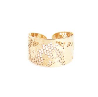 bague gwapita bijoux doré plaqué or dentelle