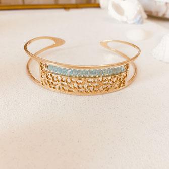 lucia gwapita manchette dentelle doré bracelet bijoux femme