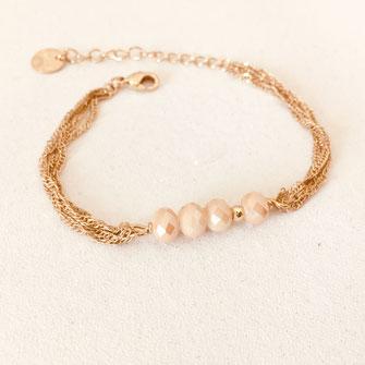 bracelet gwapita fin bijoux France creation finesse perles doré plaqué or  nude Amaury
