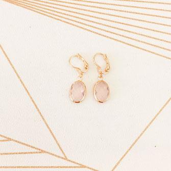 boucles d'oreilles gwapita rose doré plaqué or gwapita
