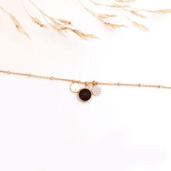 bracelet doré plaqué or fin Gwapita bijoux créatrice française france Igor noir