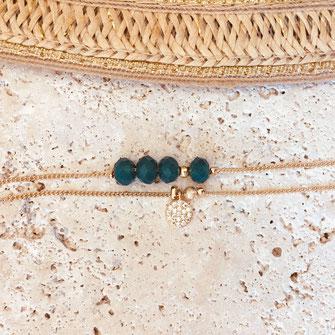 gwapita bracelet vert perles Brooklyn