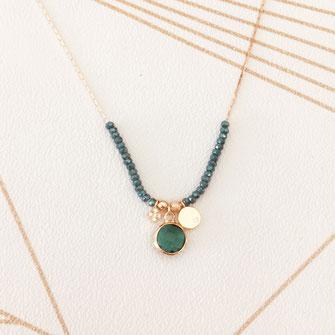 collier choker necklace gwapita bijoux français france createur fin doré plaqué or perles