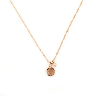 collier choker necklace gwapita bijoux français france createur fin doré plaqué or perles brun