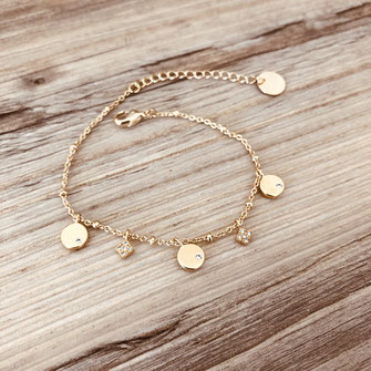 bracelet doré plaqué or fin Gwwapita bijoux créatrice française france fin joaillerie jewellery jewelry