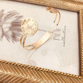 bracelet gwapita bijoux français france createur fin doré plaqué or perles  manchette jonc