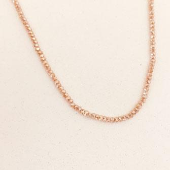 collier choker necklace gwapita bijoux français france createur fin doré plaqué or champagne perles