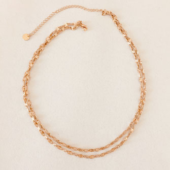 collier doré gwapita wapita bijoux createur creatrice instagram  necklace jewelry plaqué or fin fleur Selena bijoux femme printemps