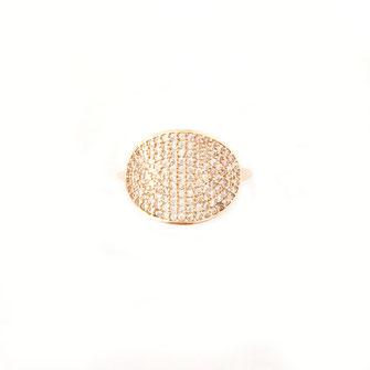 bague celeste Gwapita doré bijou plaqué or blanc