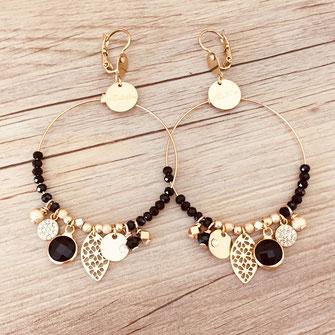 boucles d'oreilles earring gwapita bijoux français france createur fin doré plaqué or perles