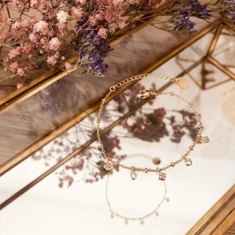 bracelet doré plaqué or fin Gwwapita bijoux créatrice française france