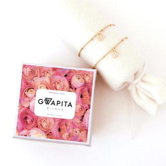 gwapita coffret fetes des meres or doré coeur mini amour