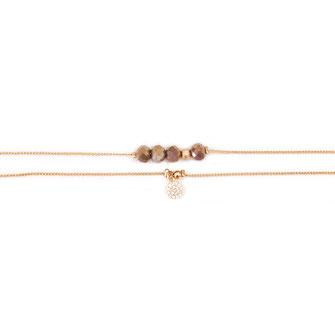 bracelet doré plaqué or fin Gwapita bijoux créatrice française france gris perles fin