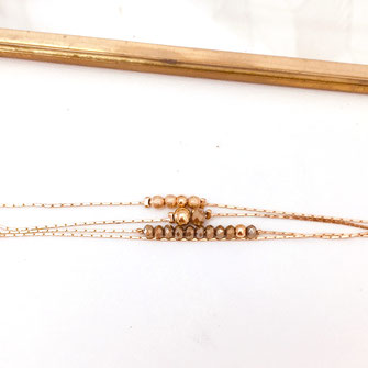 gwapita bracelet thelma pyrite chaine fine bijoux fin femme doré perles