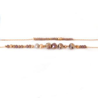 bracelet doré plaqué or fin Gwwapita bijoux créatrice française france gris polaire