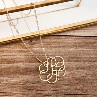 collier choker necklace gwapita bijoux français france createur fin doré plaqué or perles infinity infini