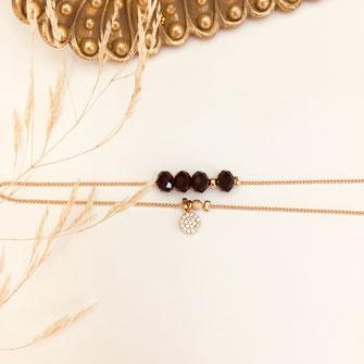 bracelet doré plaqué or fin Gwapita bijoux créatrice française france noir brooklyn