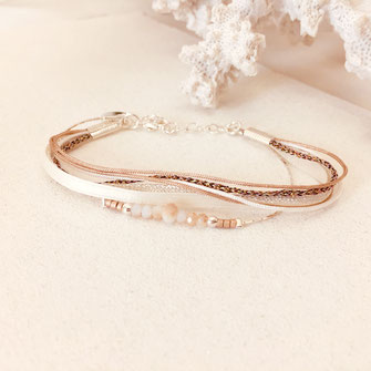 bracelet fynn gwapita rubans perles argent argenté