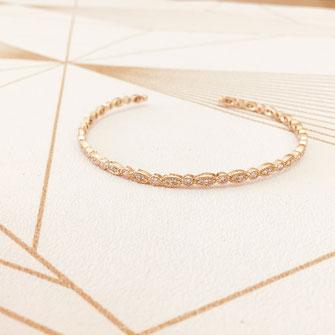 bracelet doré plaqué or fin Gwwapita bijoux créatrice française france jonc joaillerie