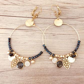 boucles d'oreilles earring gwapita bijoux français france createur fin doré plaqué or perles  Sasha