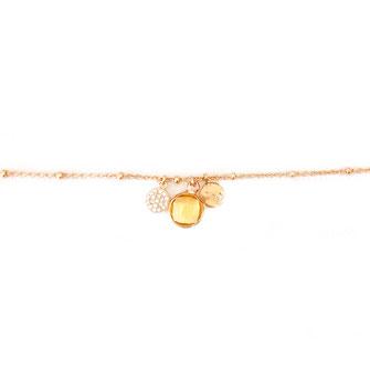 bracelet doré plaqué or fin Gwwapita bijoux créatrice française france jaune Igor