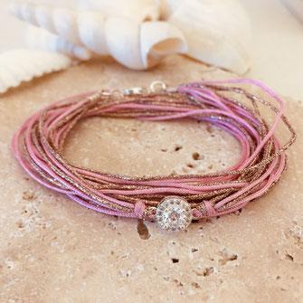bracelet rose gwapita bijoux plaqué argent argenté