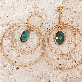 boucles d'oreilles Léonie rosie anneaux striés sculpté doré or plaqué gwapita new nouvelle nouveauté bijoux gwapita wapita creation été printemps