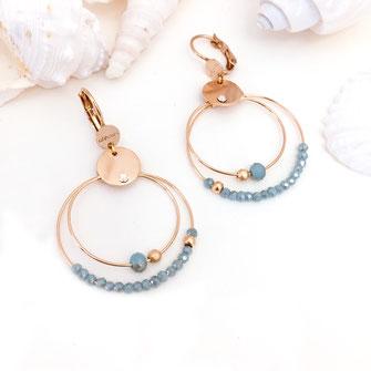 gwapita olivia mini creation boucles d'oreilles caraibe anneaux creoles double