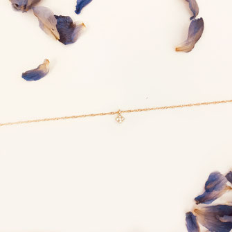 bracelet doré plaqué or fin Gwapita bijoux créatrice française france Georges fin losange brillants zircon zirconium