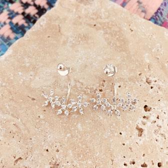 boucles d'oreilles argent argenté gwapita belle grosse creole ronde fleur