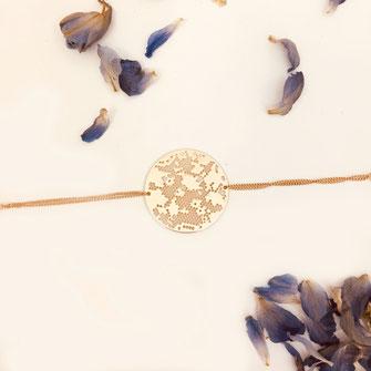 bracelet doré plaqué or fin Gwapita bijoux créatrice française france Irma