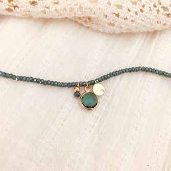 bracelet doré plaqué or fin Gwapita bijoux créatrice française france vert marcel breloques