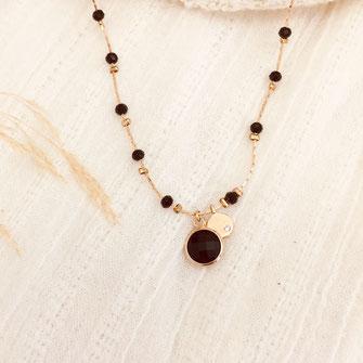 collier Pablo fin perles gwapita noir