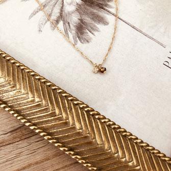 collier choker necklace gwapita bijoux français france createur fin doré plaqué ormarsala bordeaux rouge foncé perles