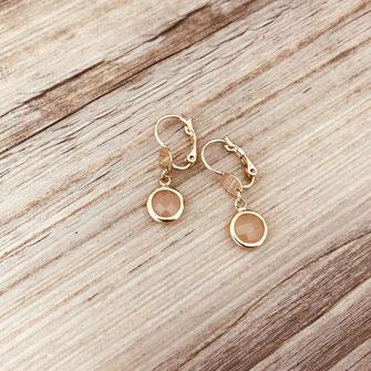 boucles d'oreilles gwapita  doré plaqué or gwapita nude pierre petites