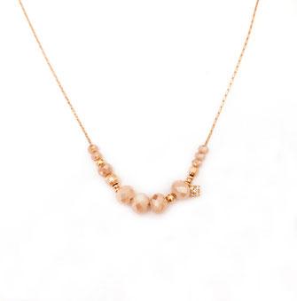 gwapita bijoux marius nude beige fin bijoux femme cadeau necklace