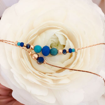 mila bleu vert bracelet gwapita
