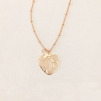 collier doré gwapita wapita bijoux createur creatrice instagram  necklace jewelry plaqué or fin fleur Selena bijoux femme printemps  Monica
