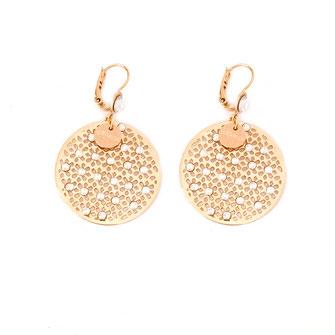 boucles d'oreilles doré gwapita bijoux best-seller longue fine chaine perles dentelle blanc créatrice Marseille