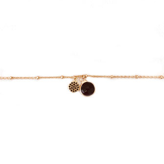 bracelet doré plaqué or fin Gwwapita bijoux créatrice française francenoir pampilles