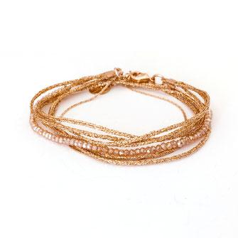 bracelet doré plaqué or fin Gwapita bijoux créatrice française france champagne Léo