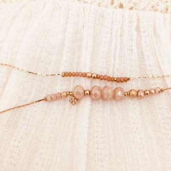 bracelet mus gwapita bijoux perles fin doré or doubles