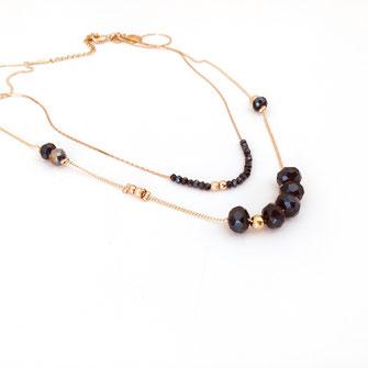 collier choker necklace gwapita bijoux français france createur fin doré plaqué or perles montana