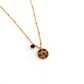 Collier panthère mini savane motif gwapita bijoux