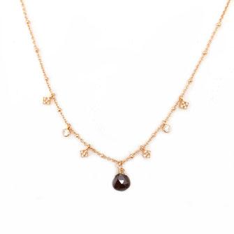 collier choker necklace gwapita bijoux français france createur fin doré plaqué or pierre fine