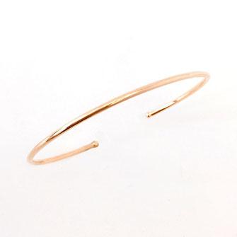 gwapita bracelet jonc lisse fin doré gwapita jewel