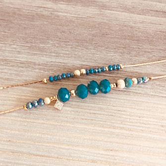 création française france bracelet doré fin plaqué or perles reflets bijoux femme  jewels  gwapita doré vert perl