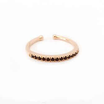 Eloise noir bague dorée gwapita bijoux créateur