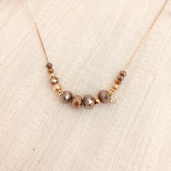collier pyrite perles fin bijoux